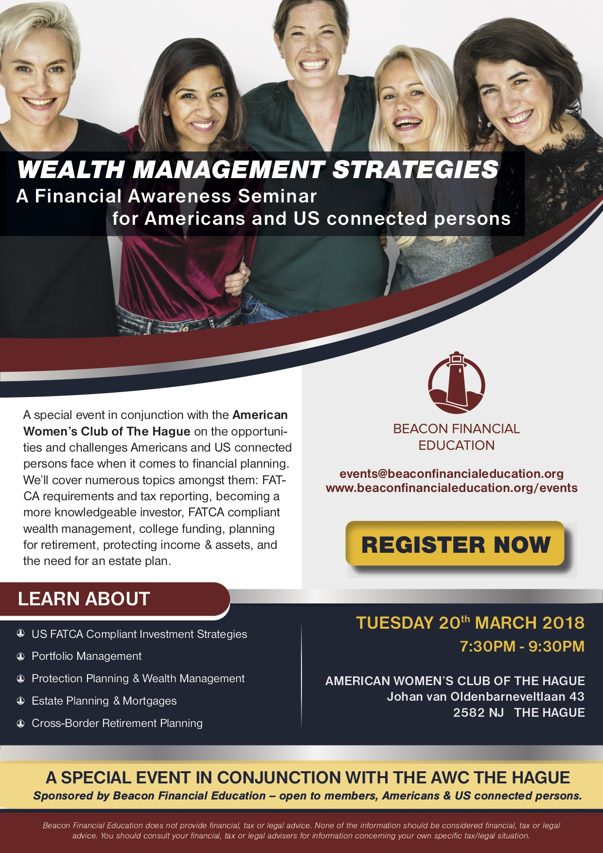 Financial Awareness Seminar The Hague, AWC 20 March