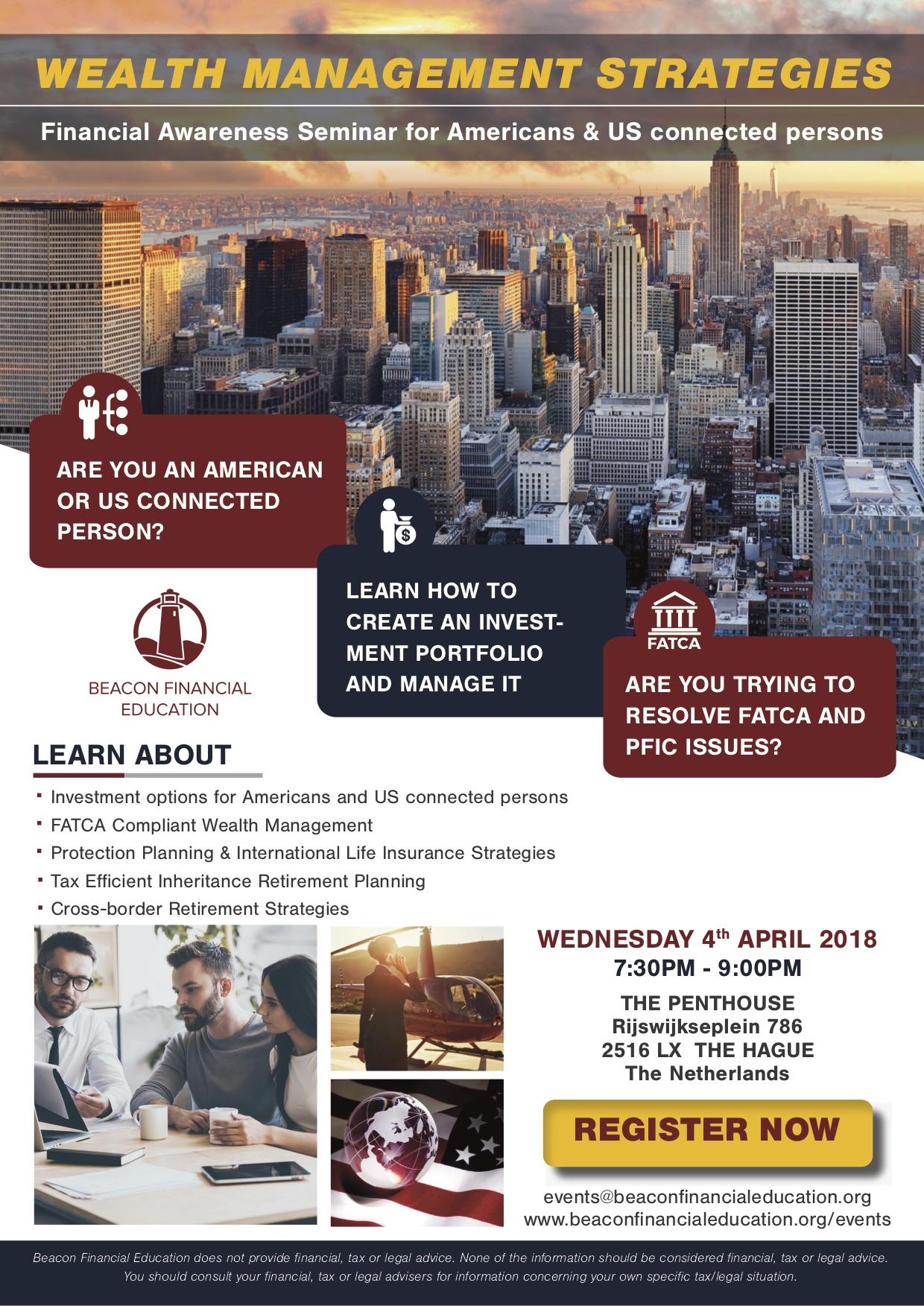 Financial Awareness Seminar The Hague 4 April