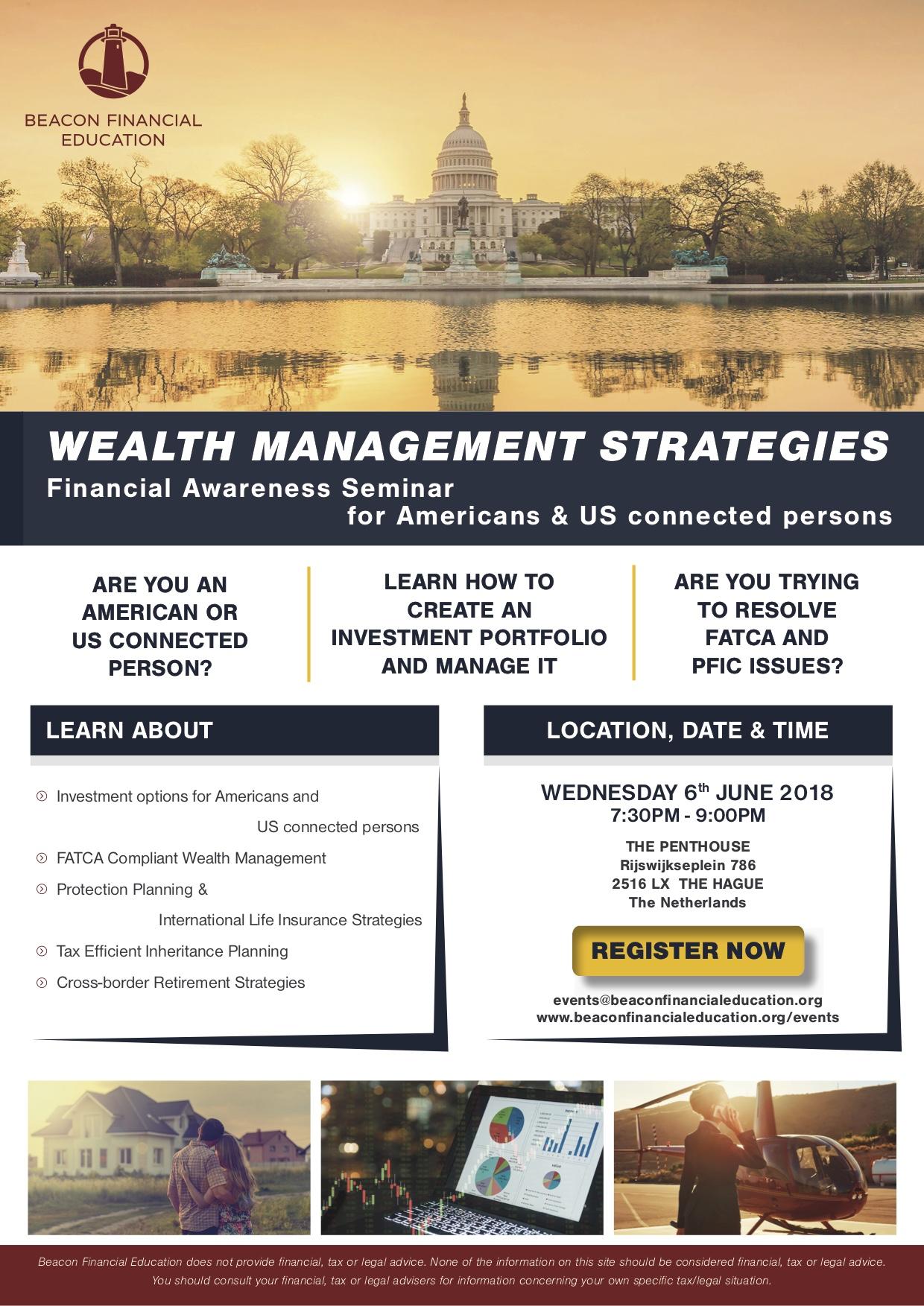 Financial Awareness Seminar The Hague 6 June