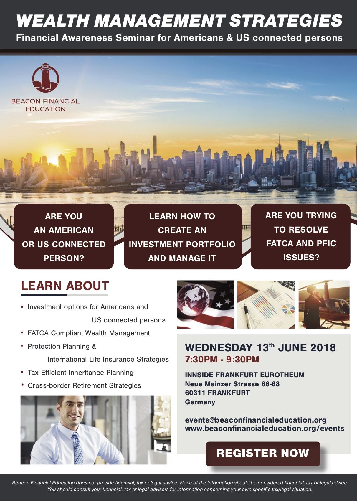 Financial Awareness Seminar Frankfurt 13 June