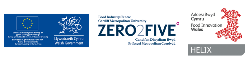ZERO2FIVE, HELIX and EU logos