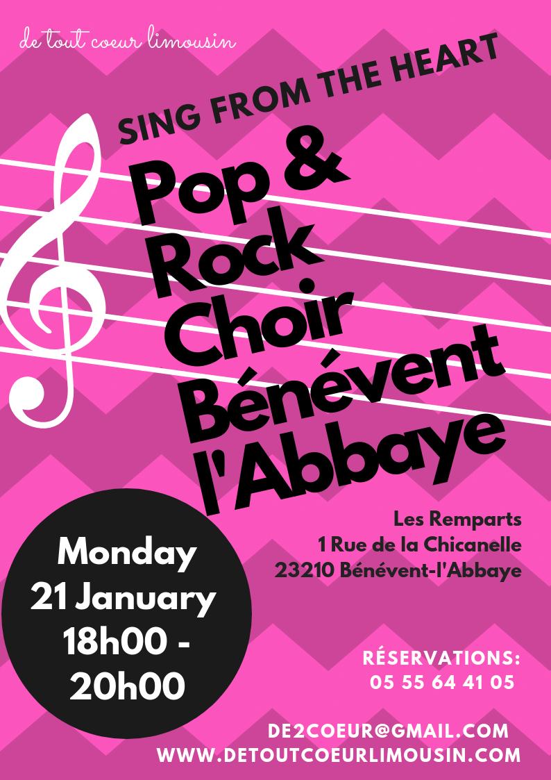 sing from the heart pop rock choir benevent labbaye