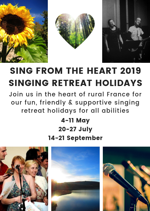 sing from the heart singers chorale retreat holidays de tout coeur limousin