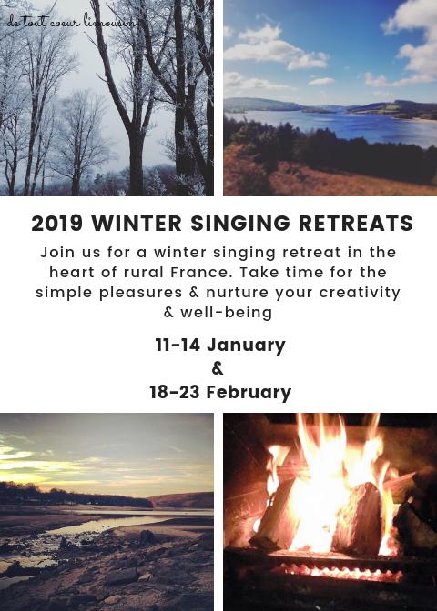 winter singing retreat de tout coeur limousin