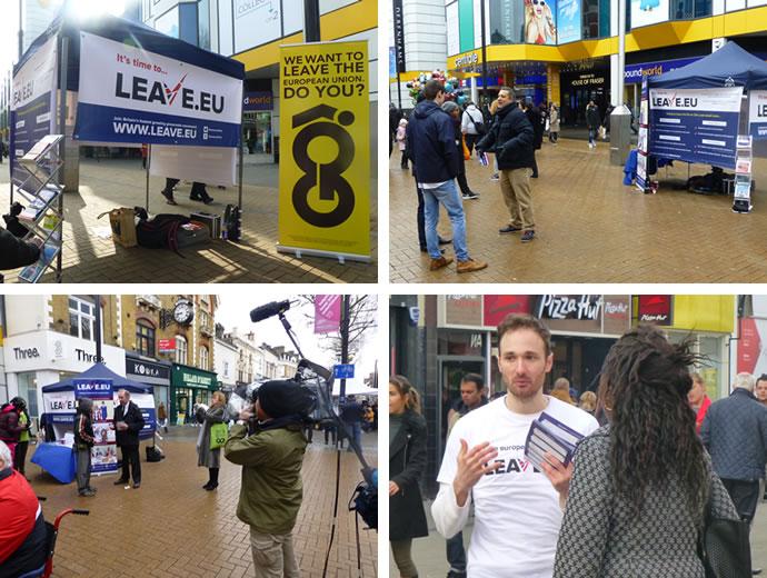 Recent street stall in Croydon