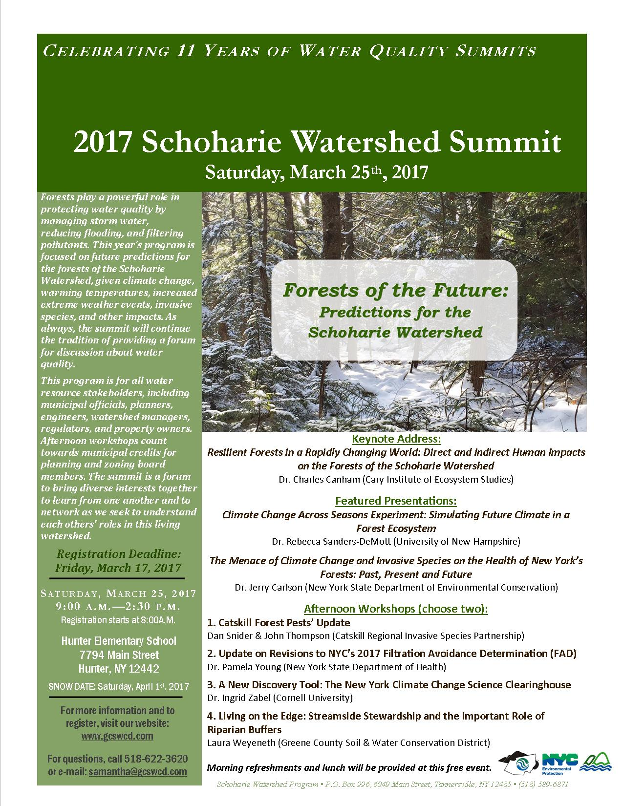 2017 Schoharie Watershed Flyer