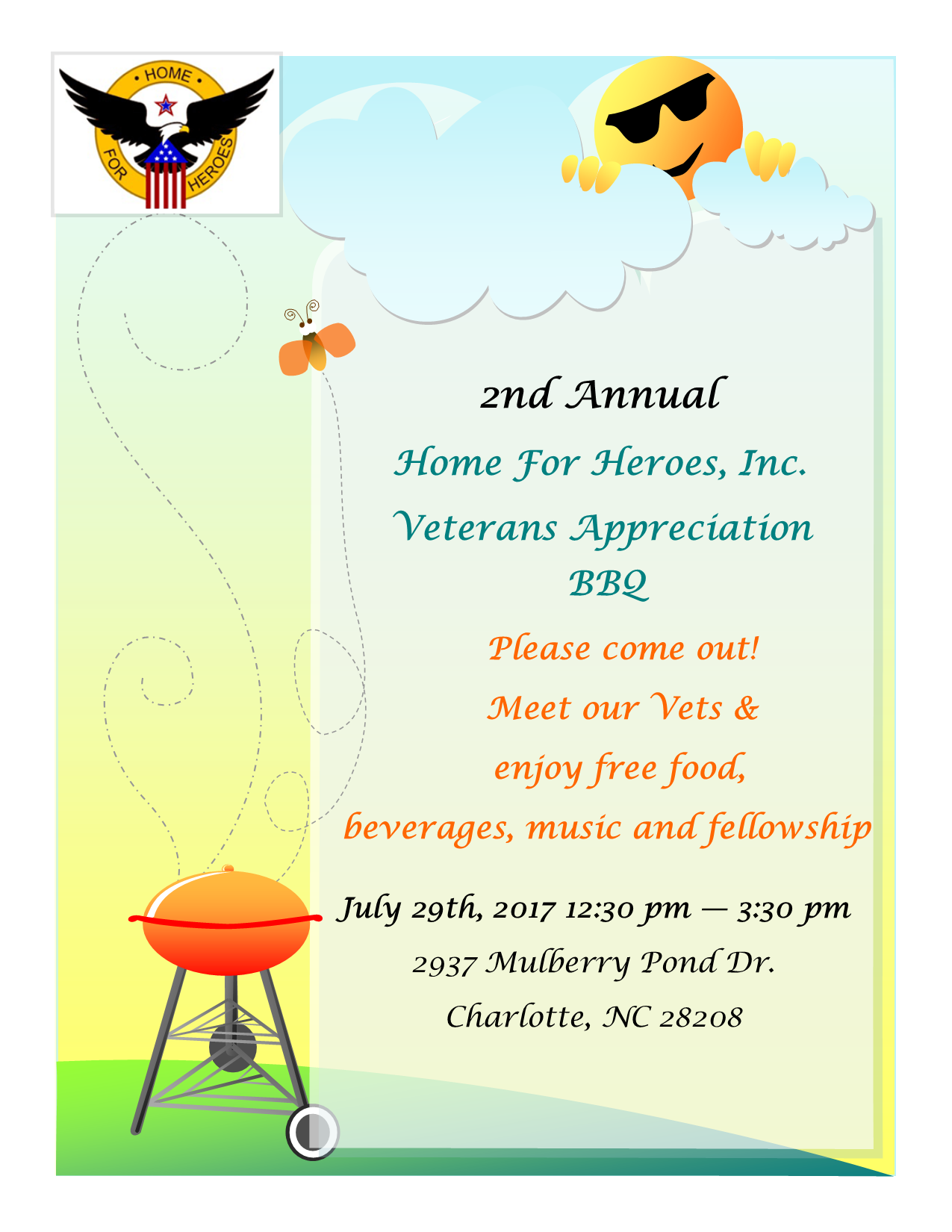Home For Heroes, Inc. Event Flyer