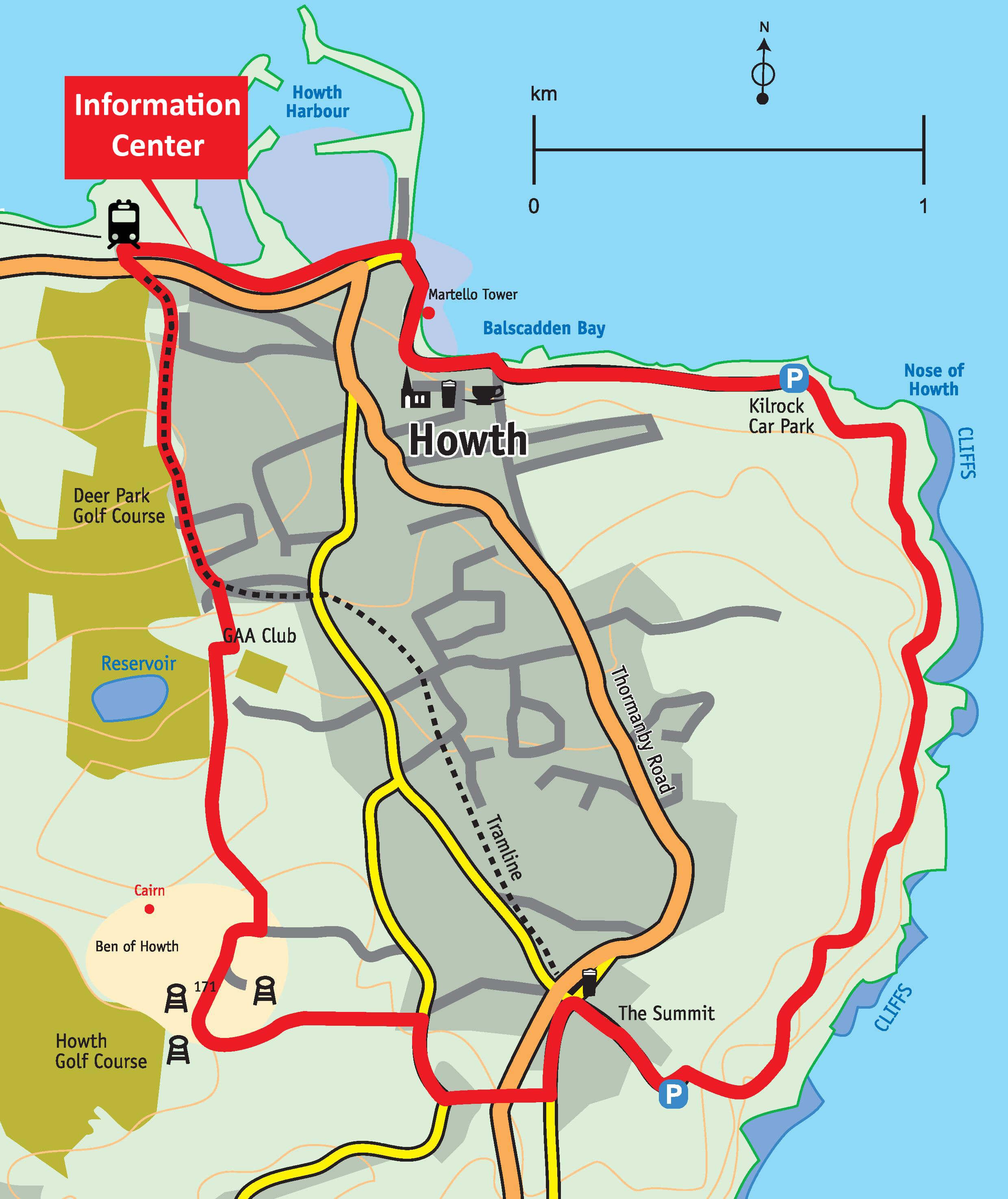 Howth Walk Map
