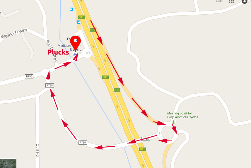 Map for Parking - Plucks