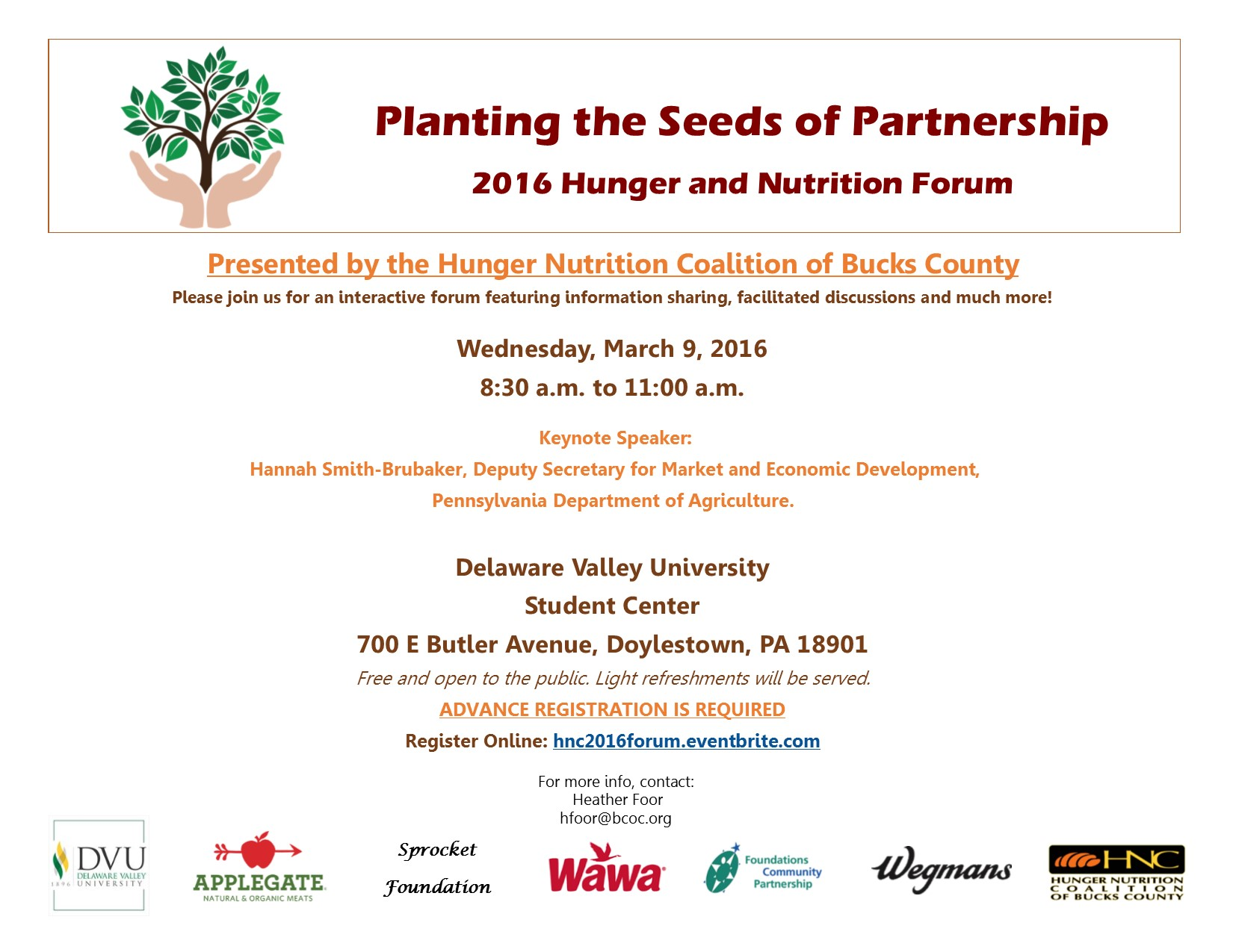 2016 Hunger and Nutrition Forum