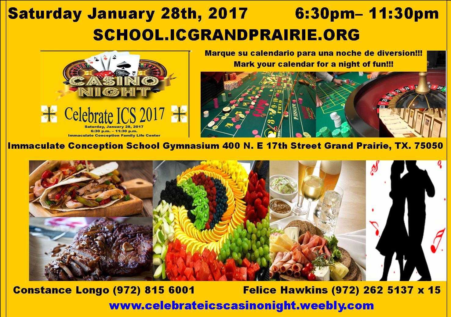 Celebrate ICS 2017 Casino Night