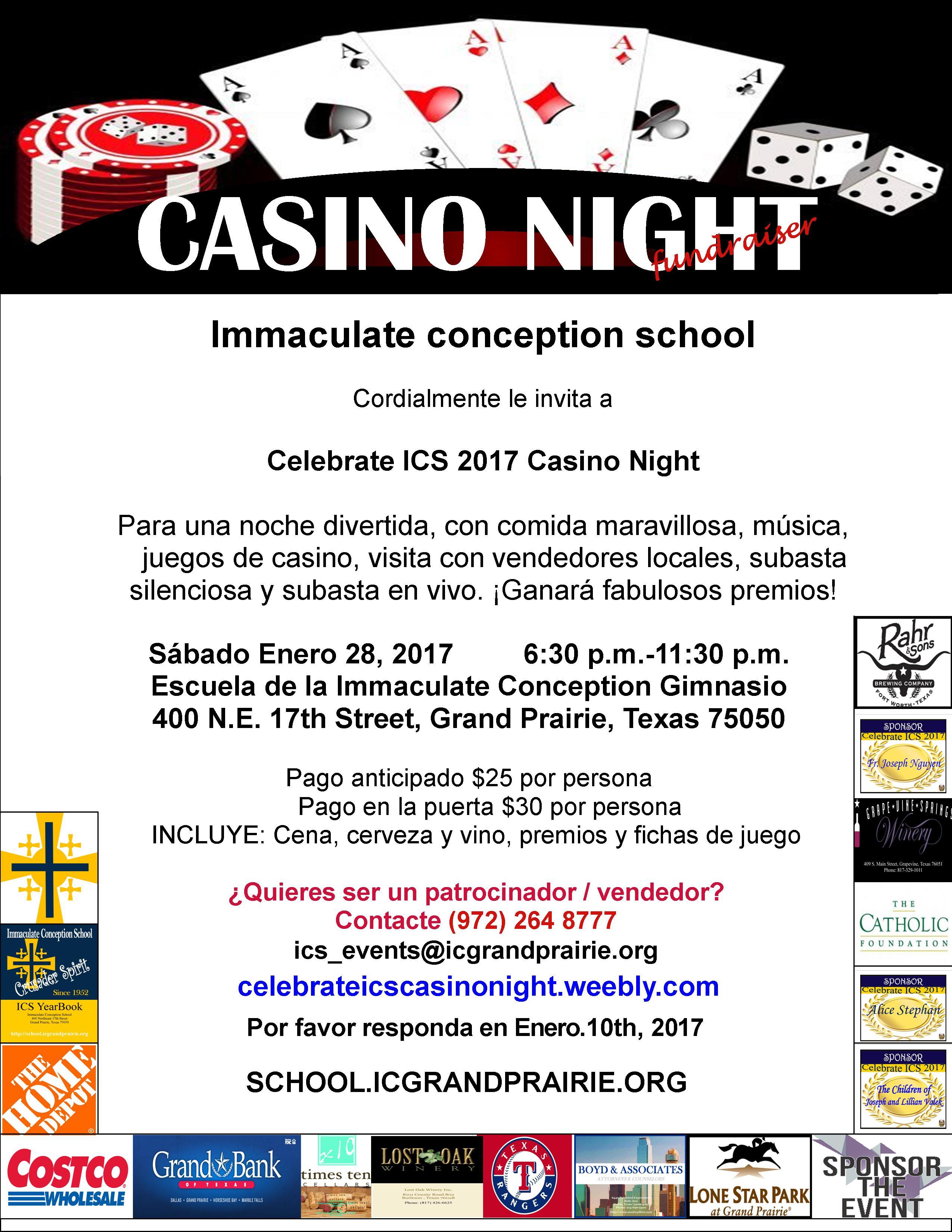 venga a disfrutar de los sabores de Grand Prairie Casino Night 2017