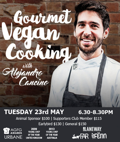 GOURMET VEGAN COOKING WITH ALEJANDRO CANCINO
