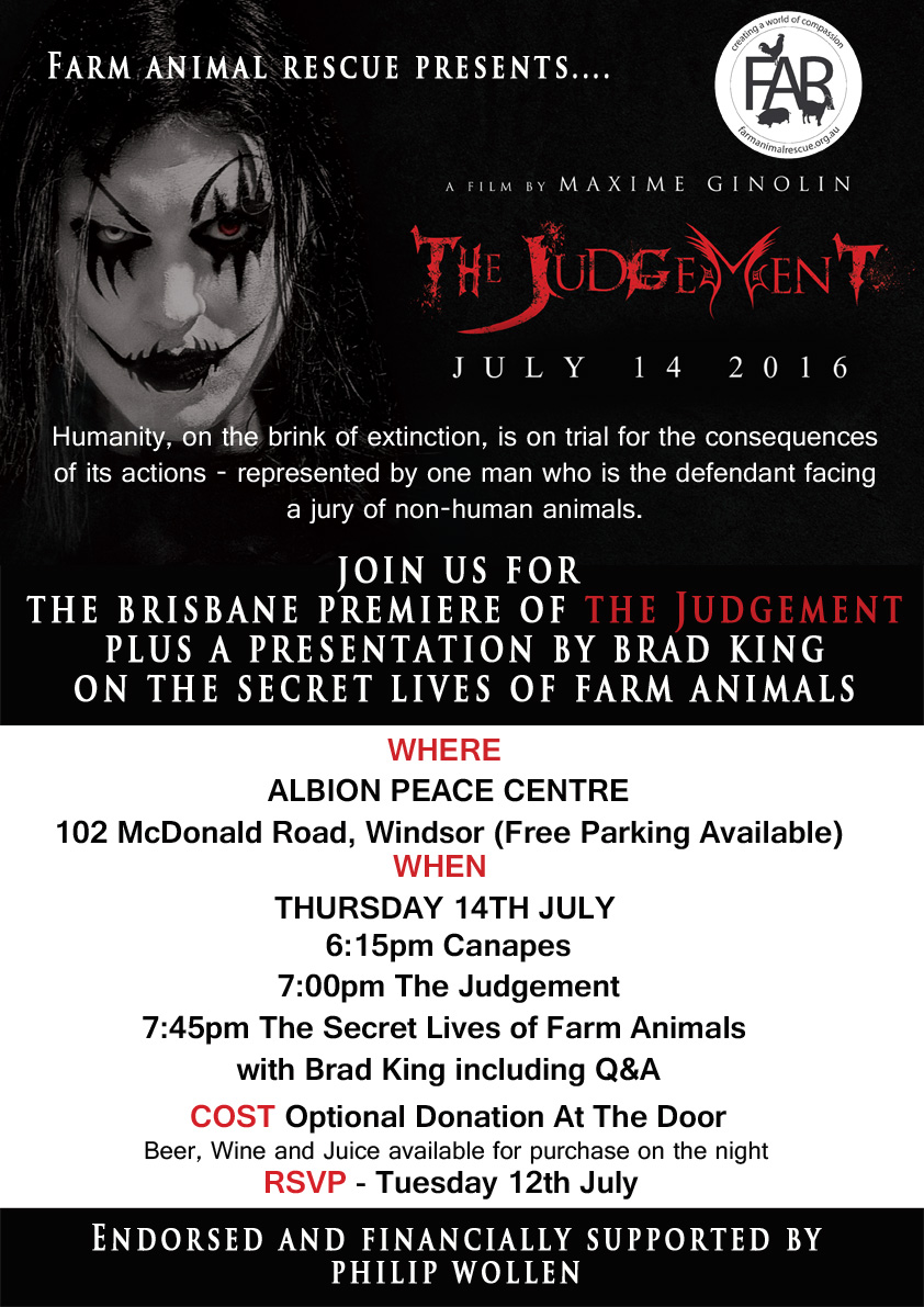 The Judgement 14th July Brisbane