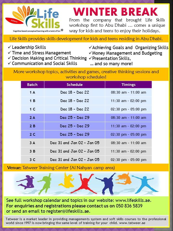 Life Skills Workshop: Winter Break