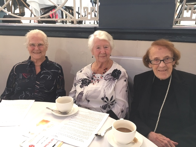 Three ladies having tea at the Tea Dance 2018
