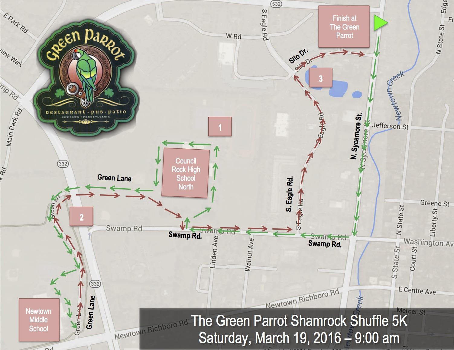 Shamrock Shuffle 5K Map