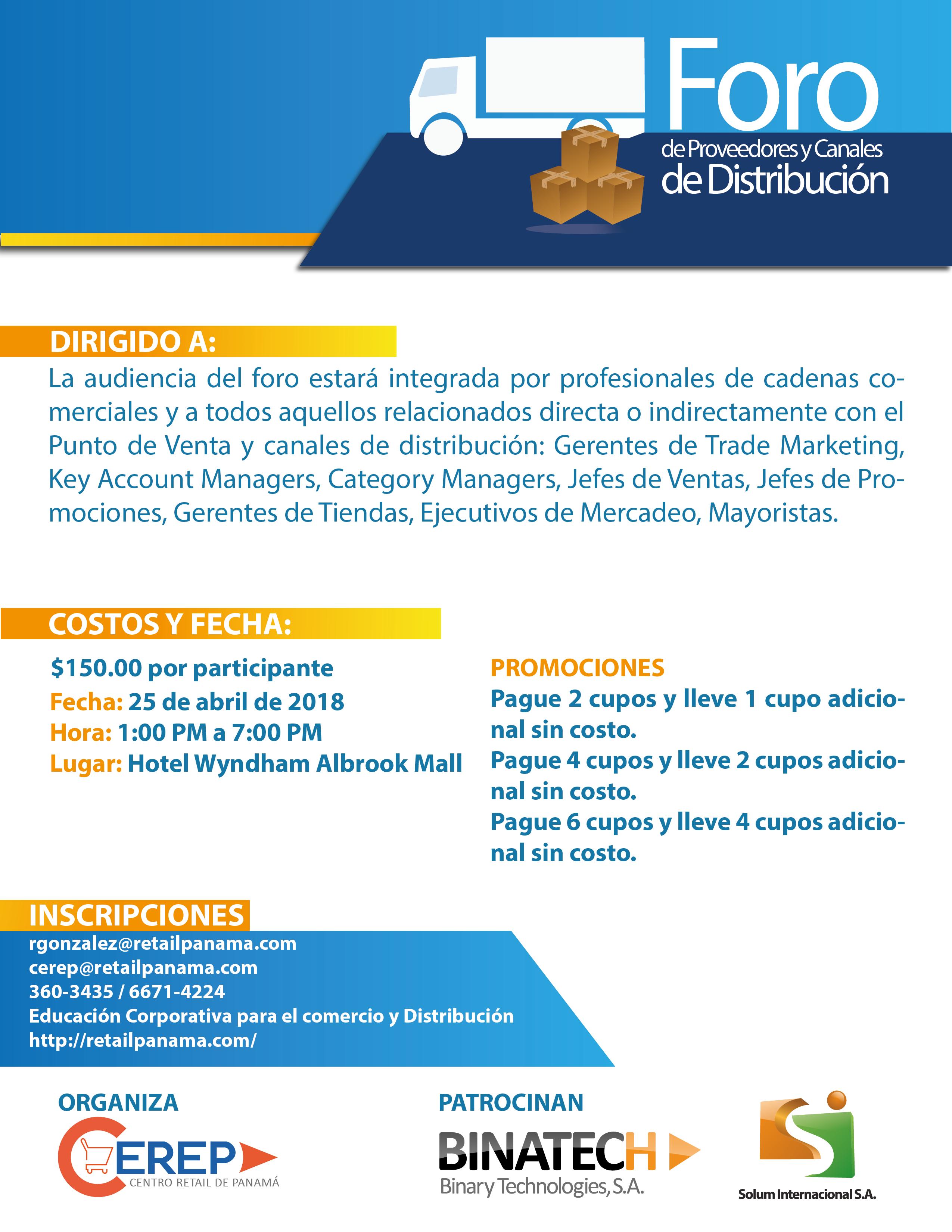 III FORO DE PROVEEDORES Y CANALES DE DISTRIBUCIÓN - PANAMÁ