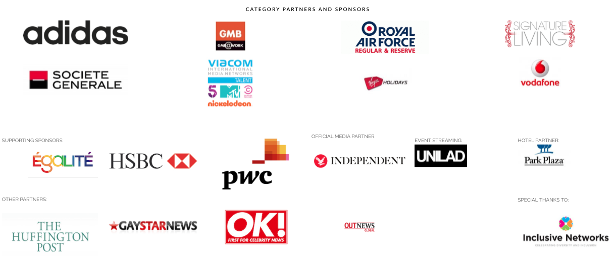 British LGBT Awards Sponsors