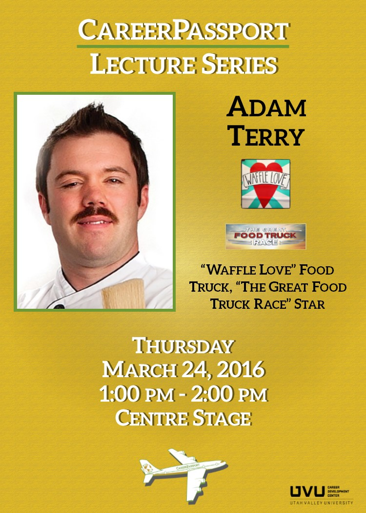 Adam Terry March 24  1-2pm Center Stage