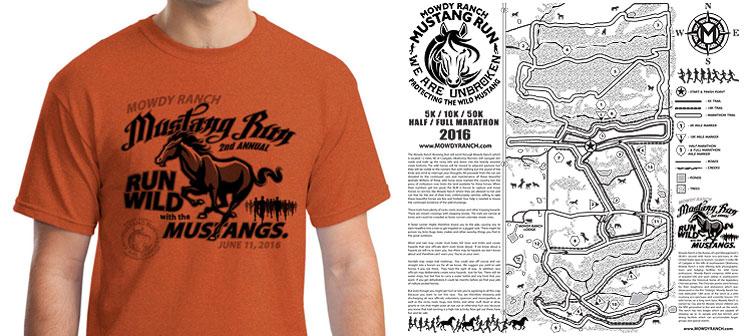 Mowdy Ranch Mustang Run Shirt Design 2016
