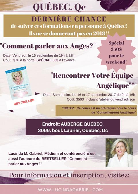 Dernière chance à Québec!