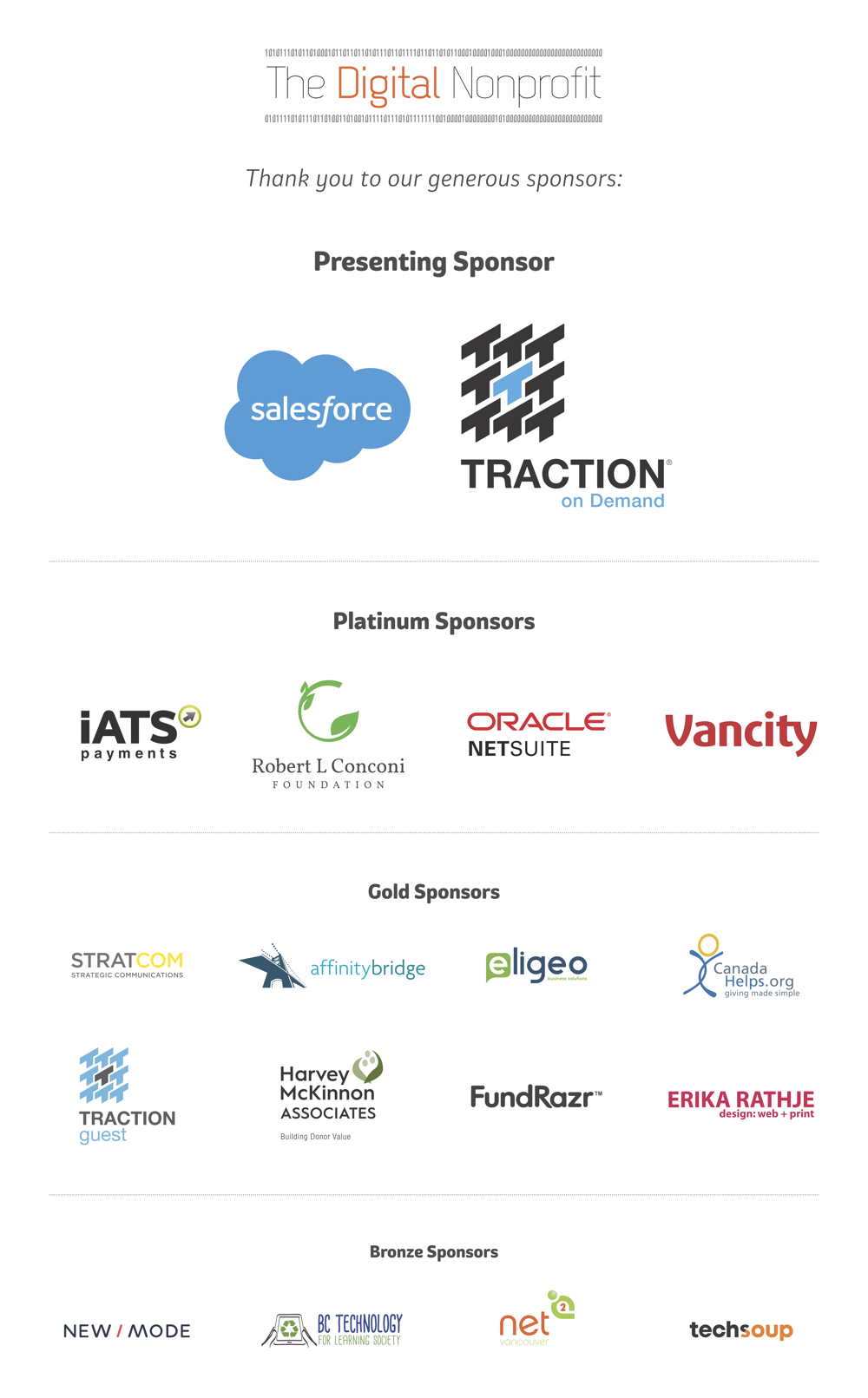 The Digital Nonprofit sponsors