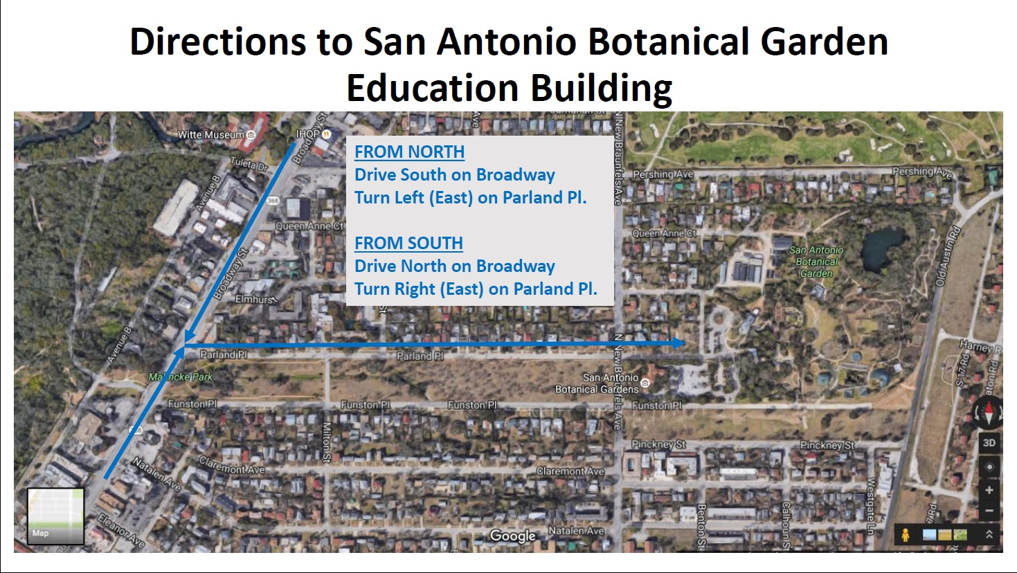 Directions to the Educational Building