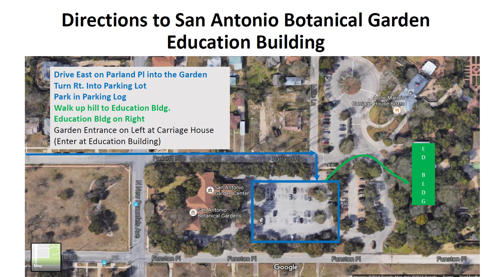 Directions to Education Building