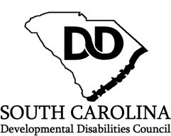 SC Developmental Disabilities Council Logo.  DD linked in the middle of an outline of the state of SC