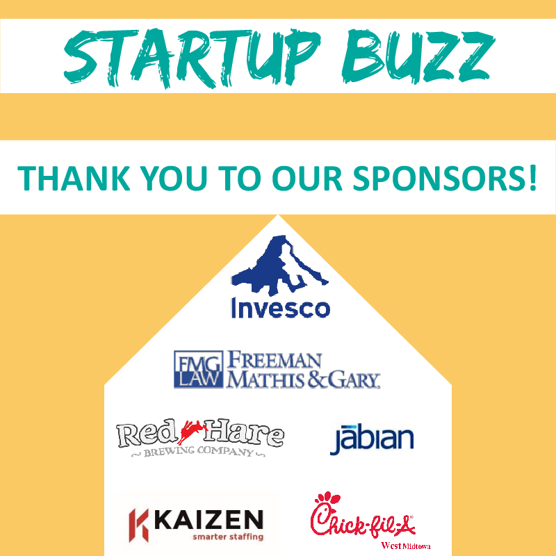 Thank You Startup Buzz Sponsors!
