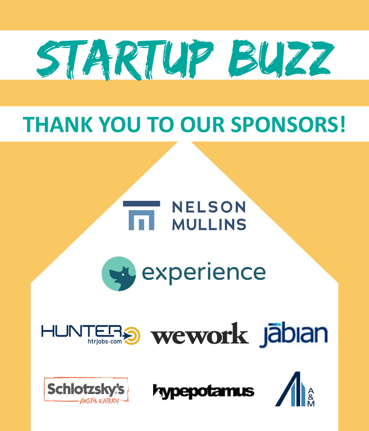 Startup Buzz 2018 Sponsors