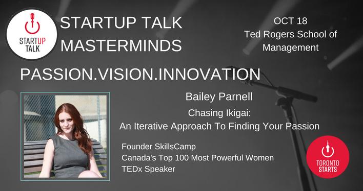Startup Talk Masterminds Bailey