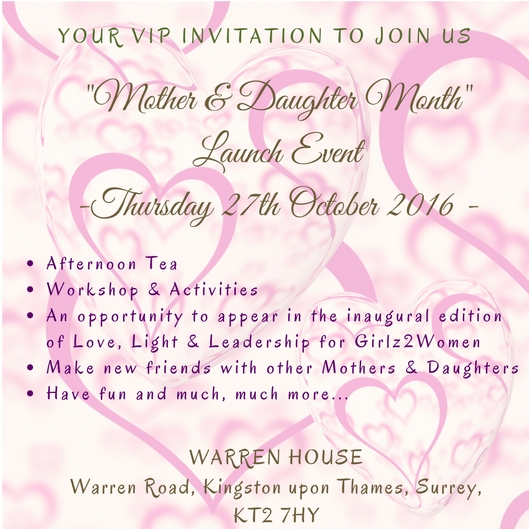 Mother & Daughter Invitation