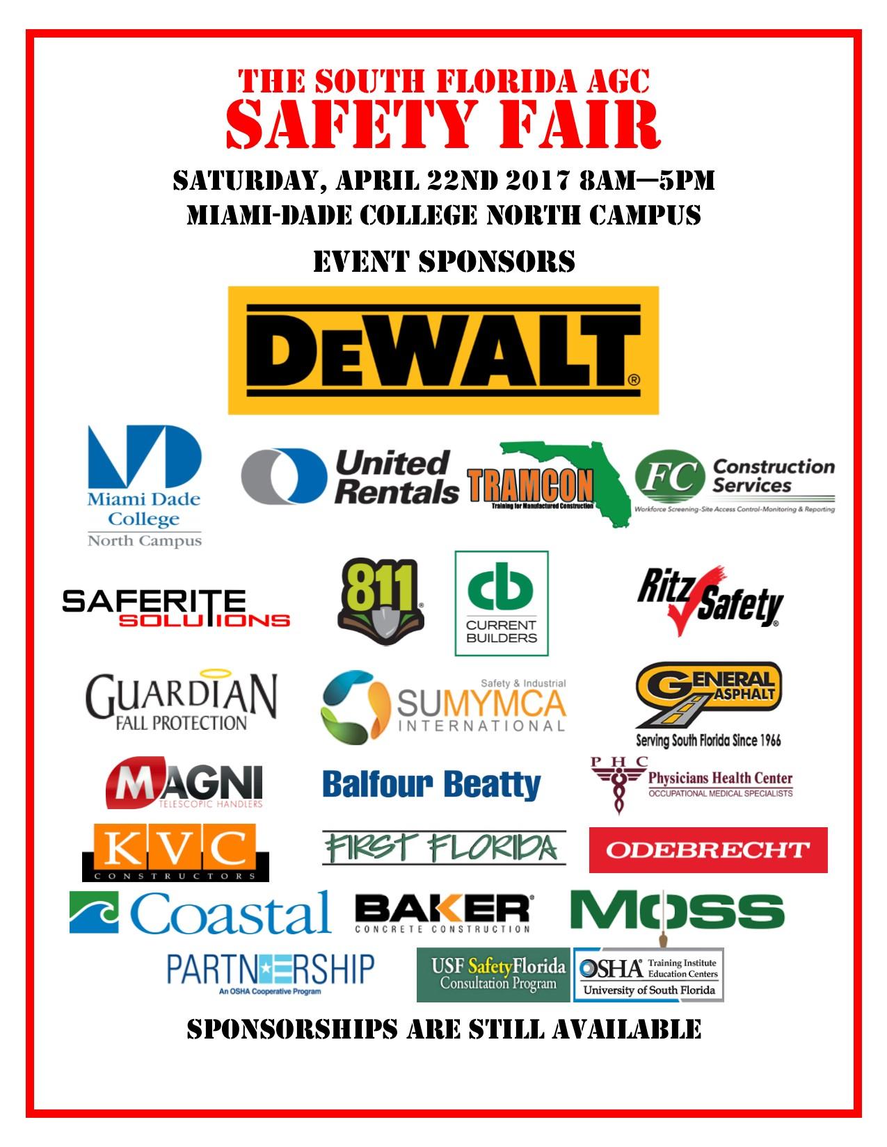 Safety Sponsors April 6