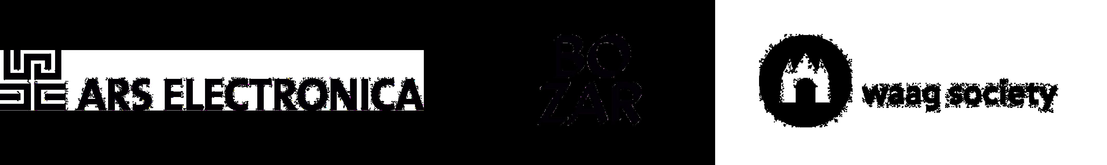 Logo's Ars Electronica Linz, Bozar, Waag Society