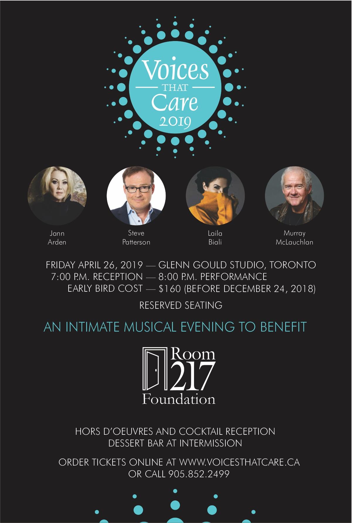 Voices that Care concert invitation