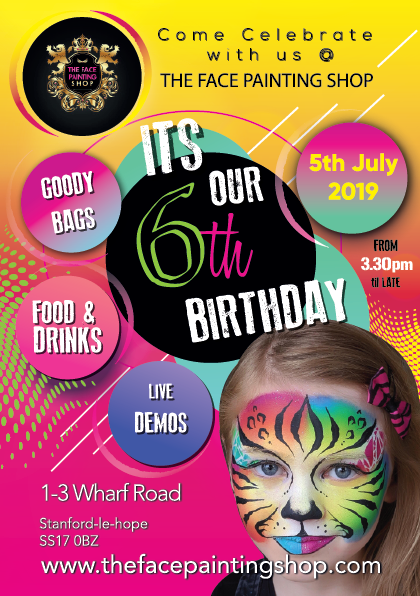 The Face Painting Shop 6th Birthday Bash