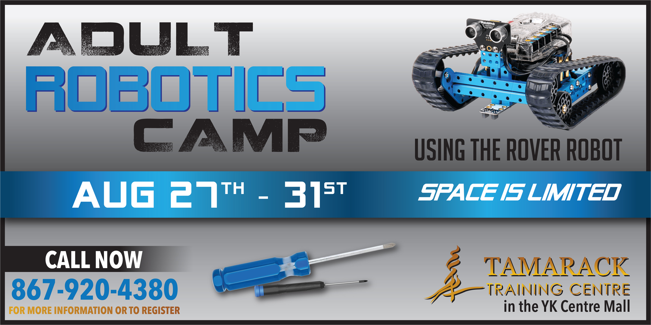 Adult Robotics Camp August 27