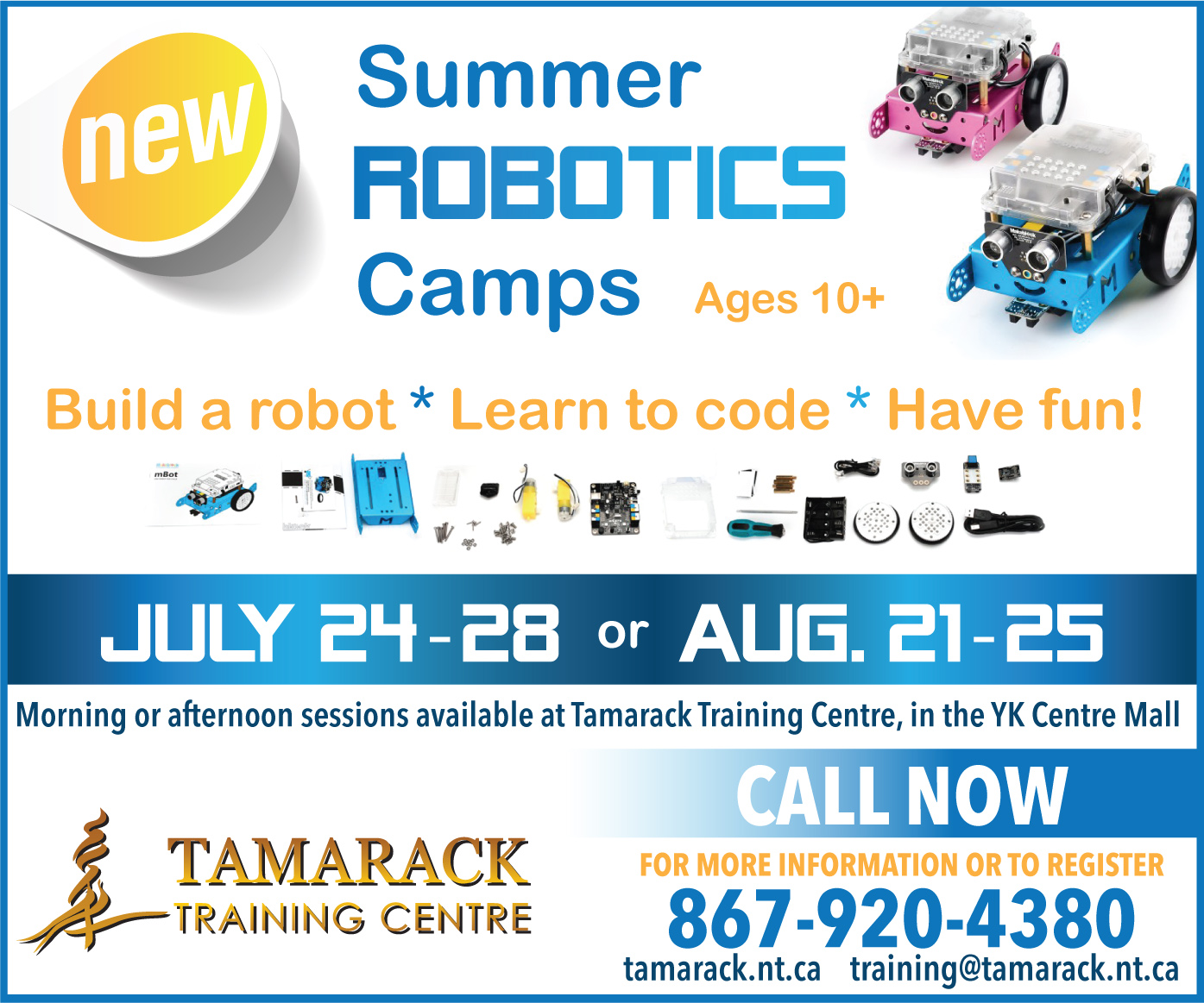 Youth Robotics Summer Camp Ad