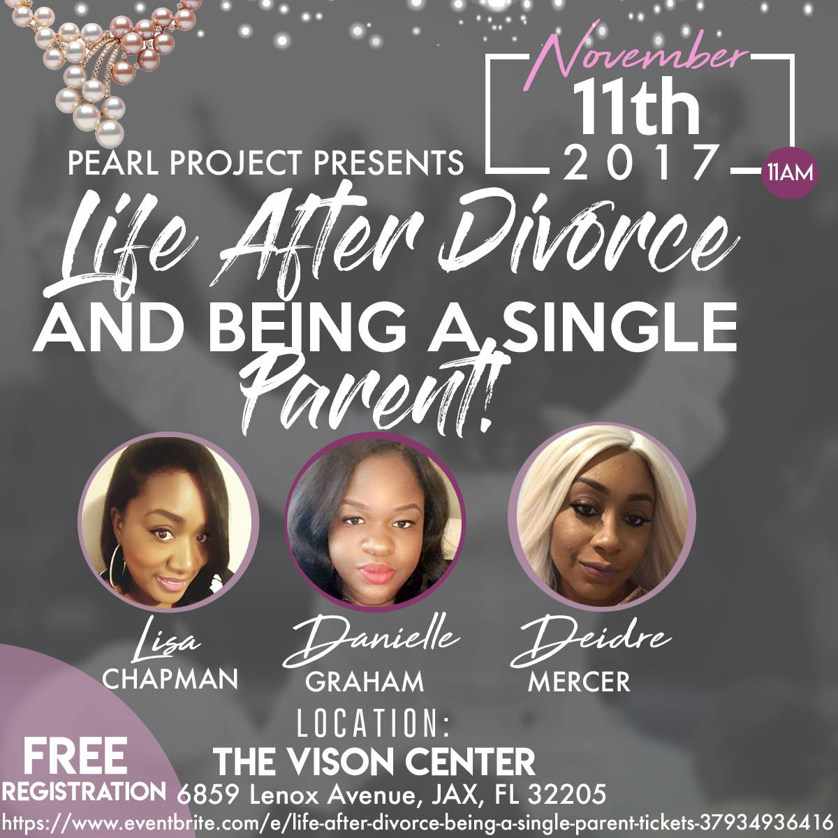 Have you ever felt like you were the only one who had to regroup or cope with Life after Divorce?  Or say Becoming a Single Parent is new to you or Maybe its always been your portion. Come out and be Enlightened or maybe even Enligten someone! This is definitely an Event you do not want to Miss!