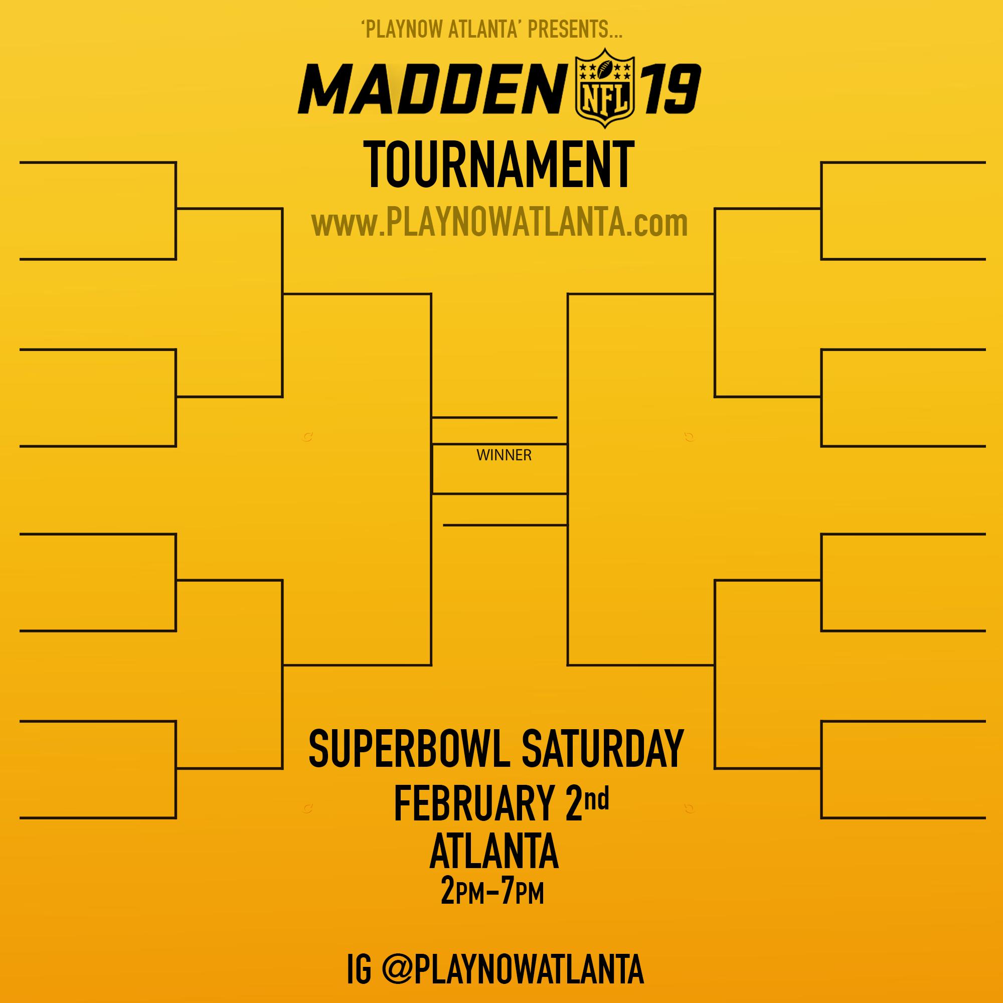 Madden 19 Tournament Atlanta
