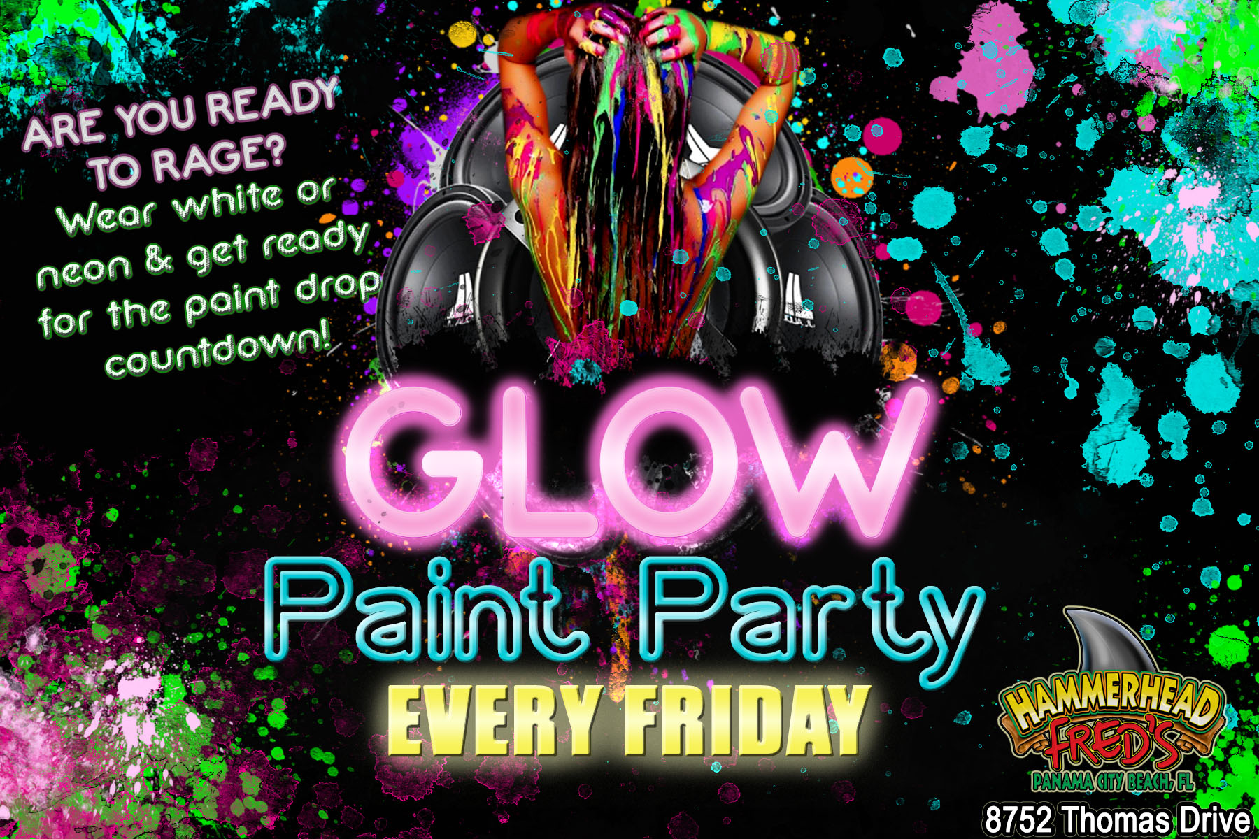 Hammerhead Fred S Glow Paint Party