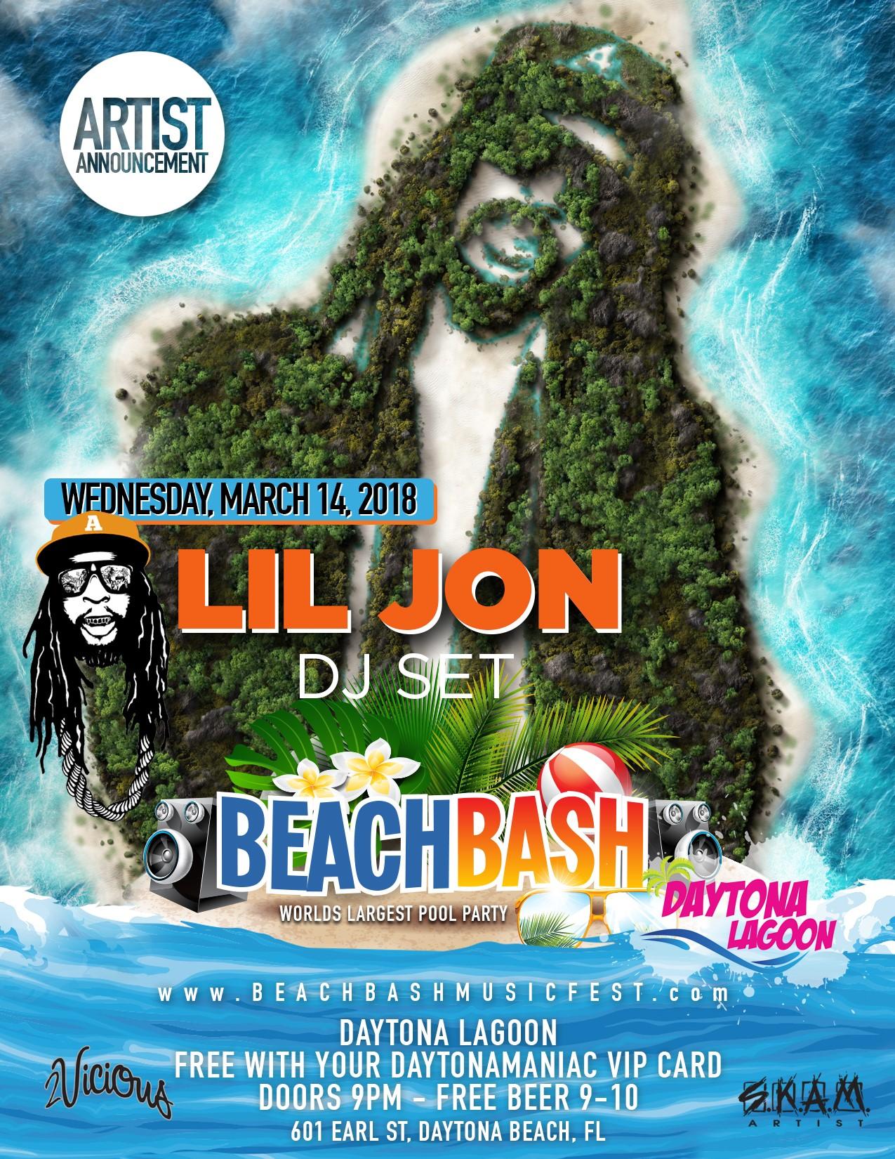 2018 Daytona Charger: Beach Bash Music Fest: Spring Break 2018 Daytona Beach
