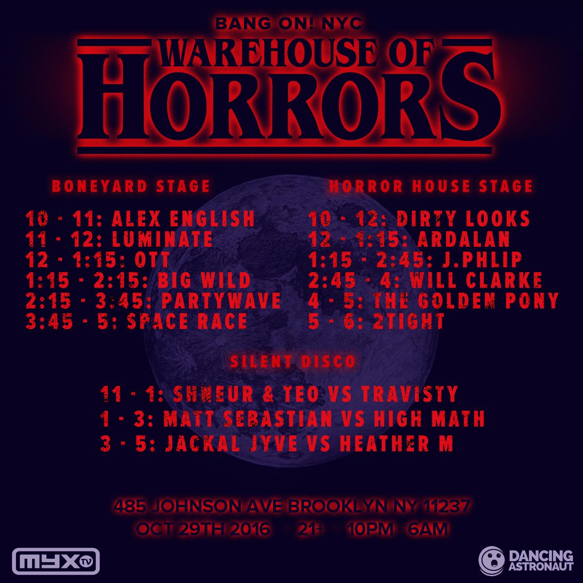BangOn!NYC presents: Warehouse of Horrors 2016 Tickets, Sat, Oct ...