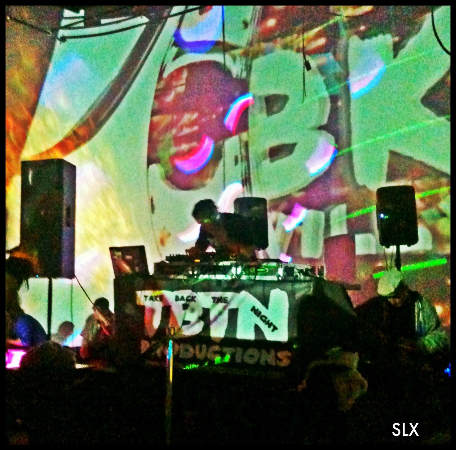 Picture - DJ BK Willy and visual projections by Unique Sequence