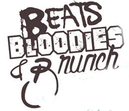 Title graphic - Beats, Bloodies, Brunch