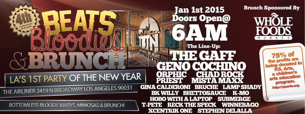 Kick off the New Year with TBTN at Beats, Bloodies, & Brunch!