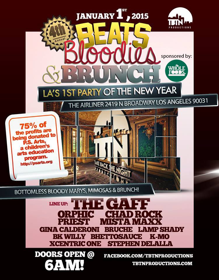 Bottomless bloody marys for a good cause on January 1 at 6am!