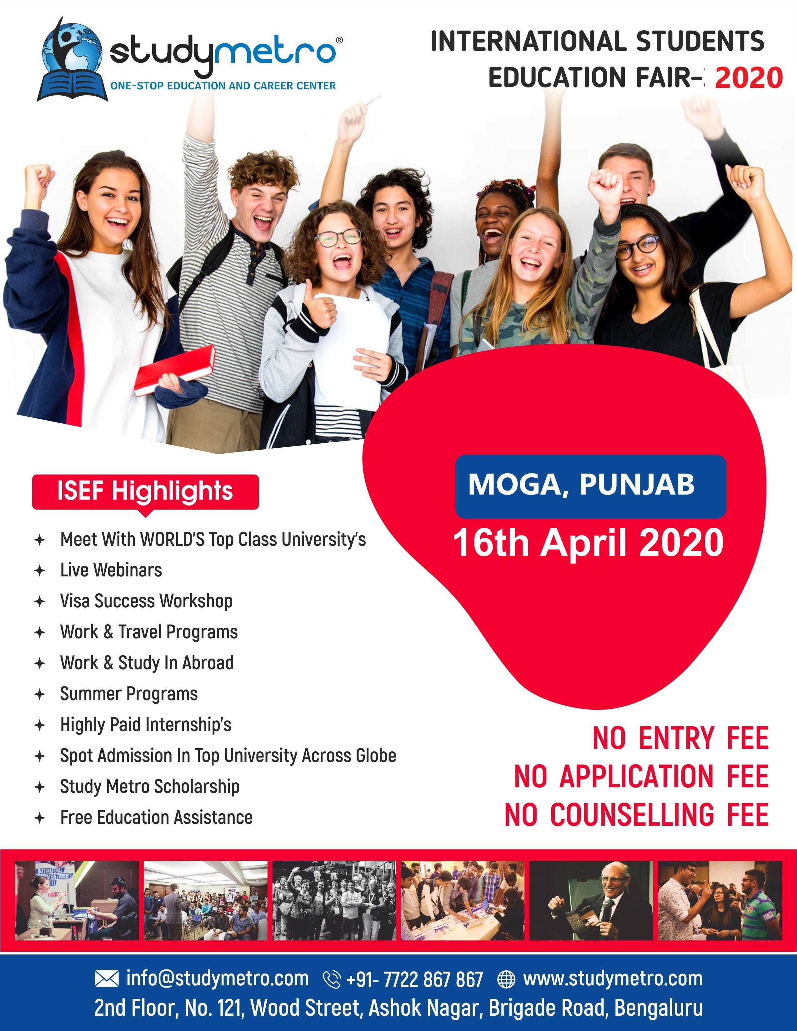 Fair February 09 2020.International Students Education Fair April 2020 Moga